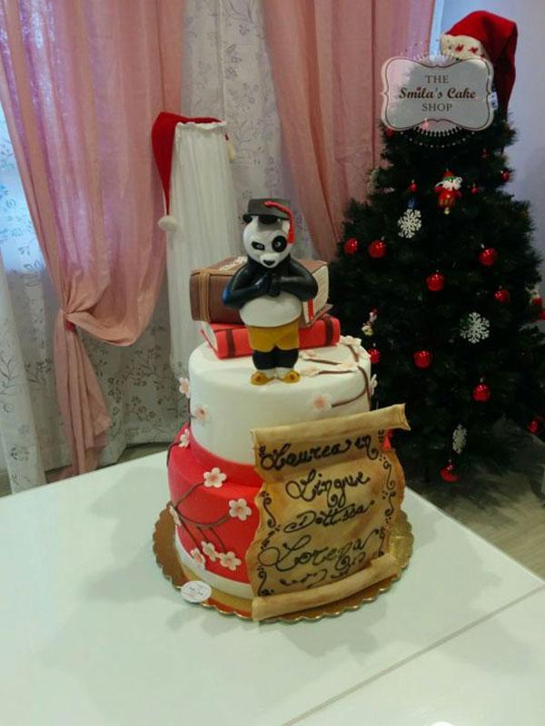 Torta di Kung Fu Panda con decorazioni in pasta di zucchero n.50