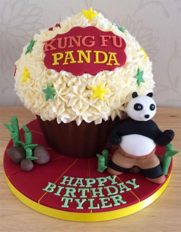 Torta di Kung Fu Panda con decorazioni in pasta di zucchero n.51