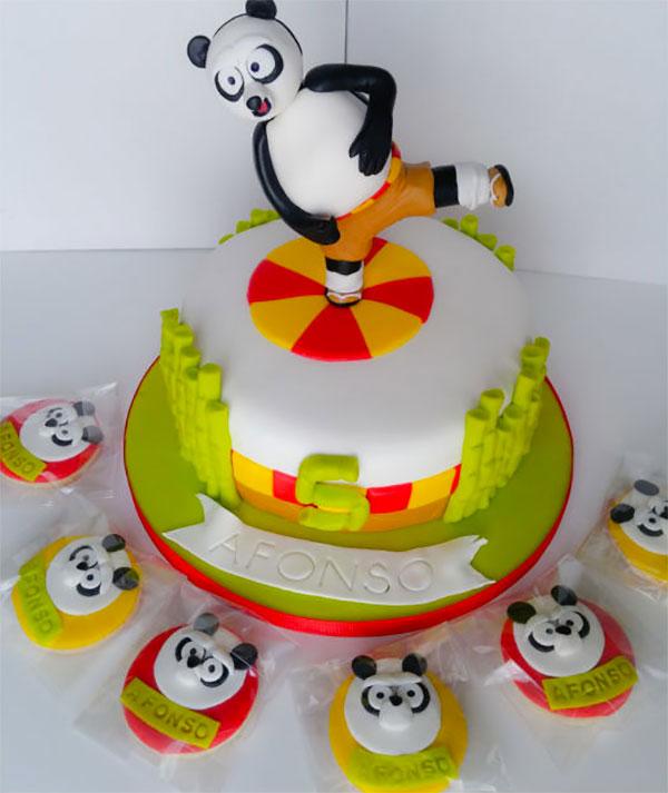 Torta di Kung Fu Panda con decorazioni in pasta di zucchero n.52