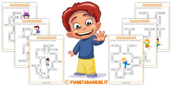 Cruciverba matematici per bambini da stampare gratis
