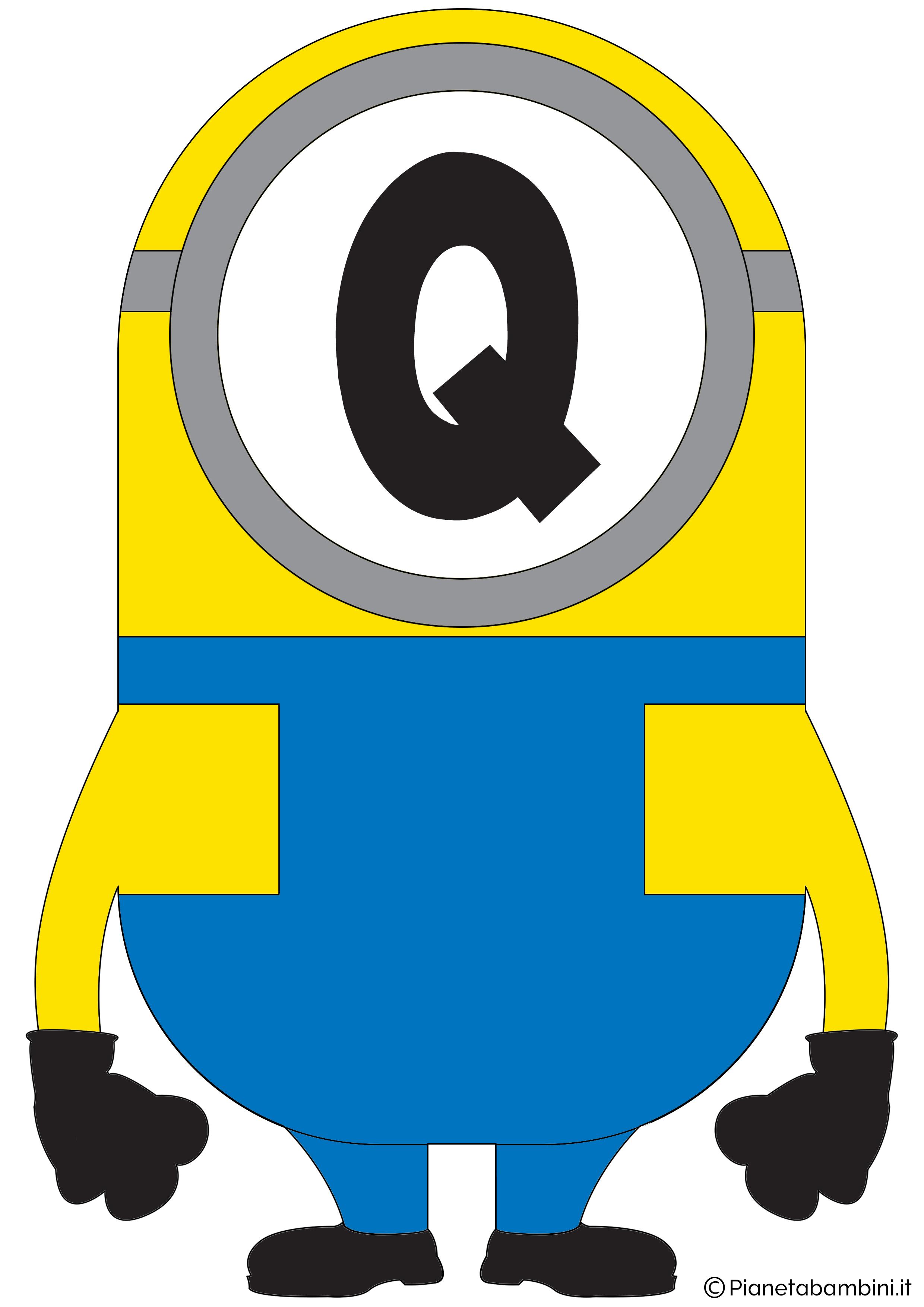 Festone-Minions-Lettera-Q
