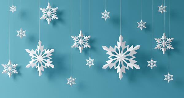 Fiocchi di neve da stampare e ritagliare per festa a tema Frozen