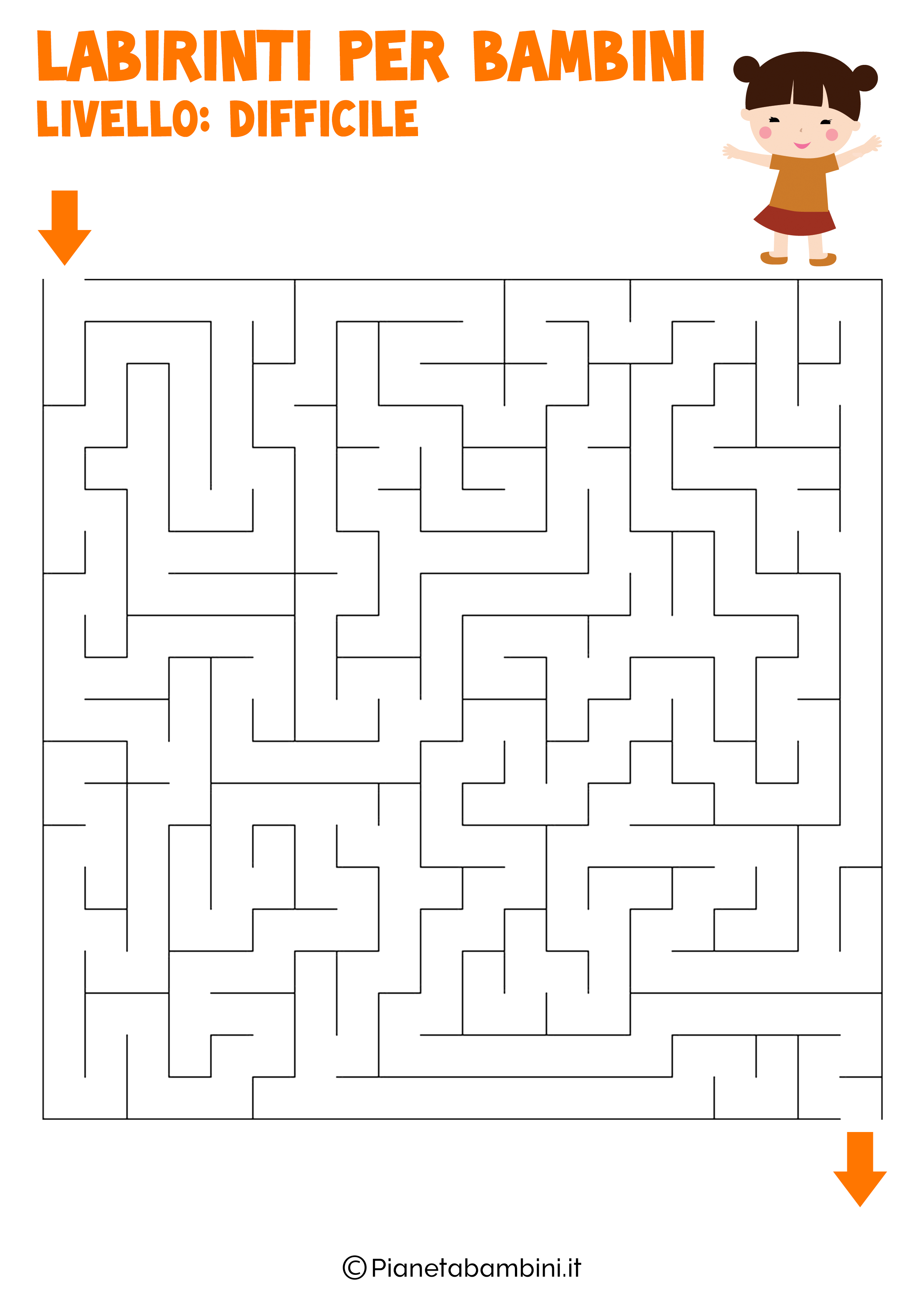 Labirinto difficile per bambini numero 2
