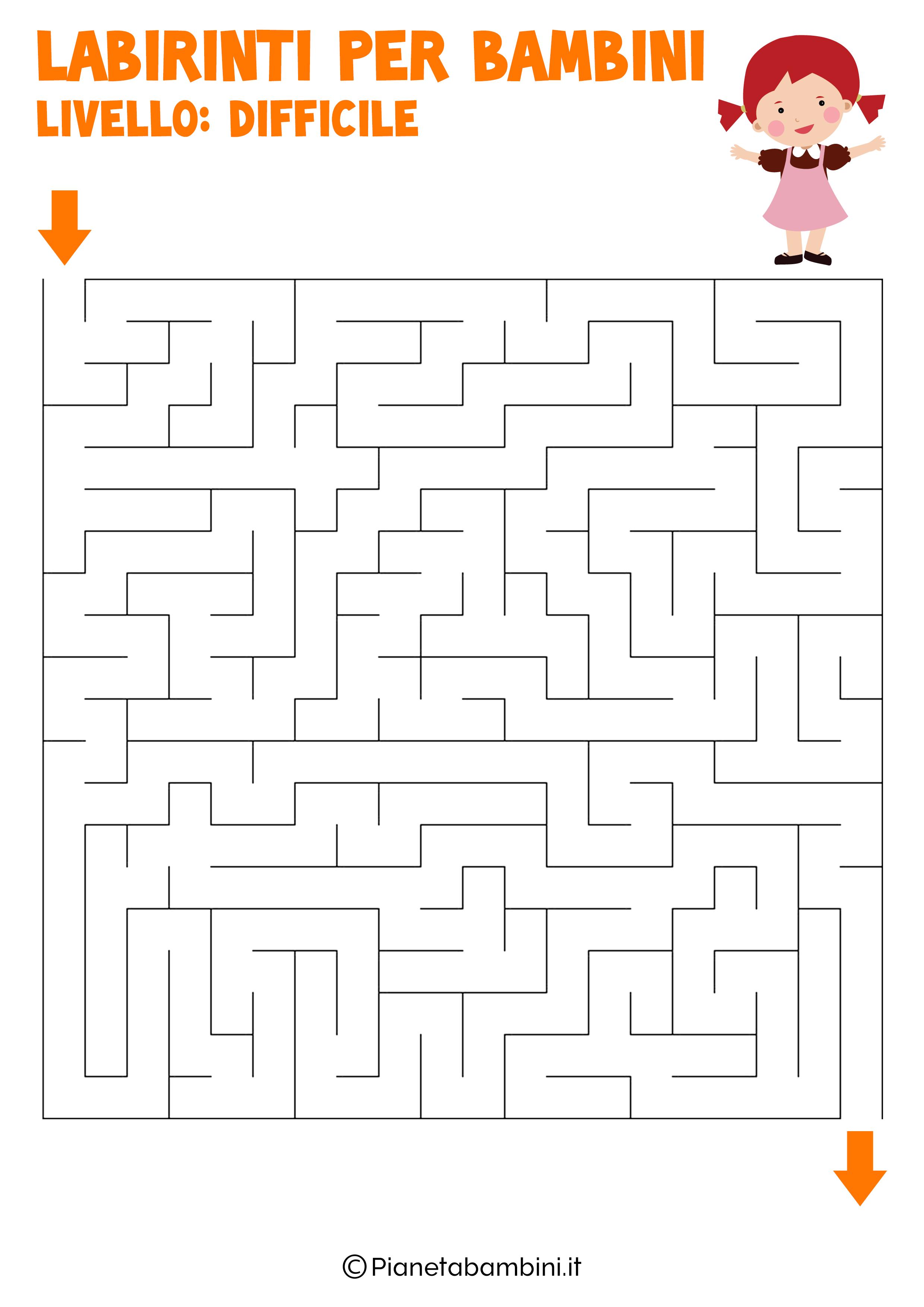 Labirinto difficile per bambini numero 3