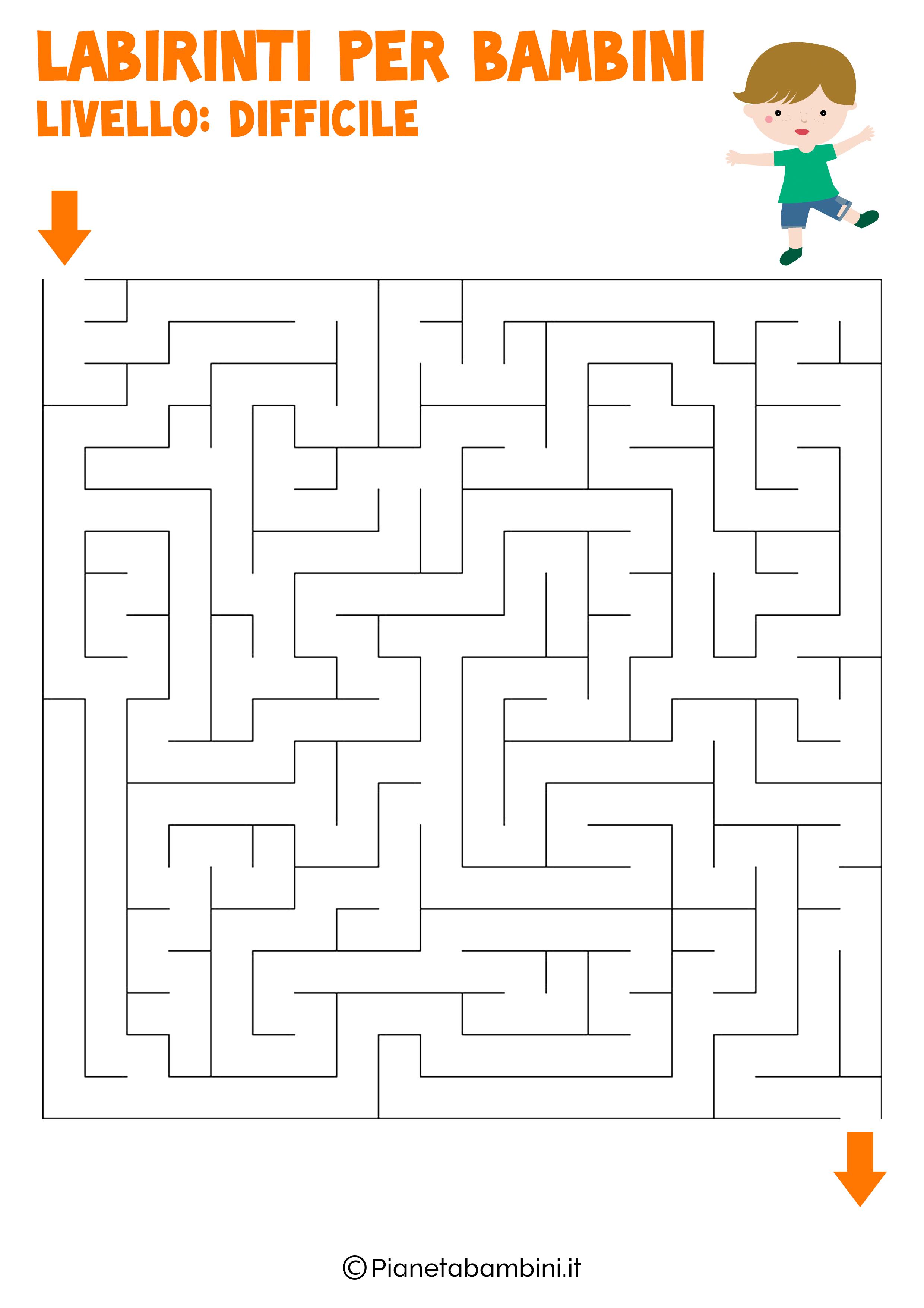 Labirinto difficile per bambini numero 4