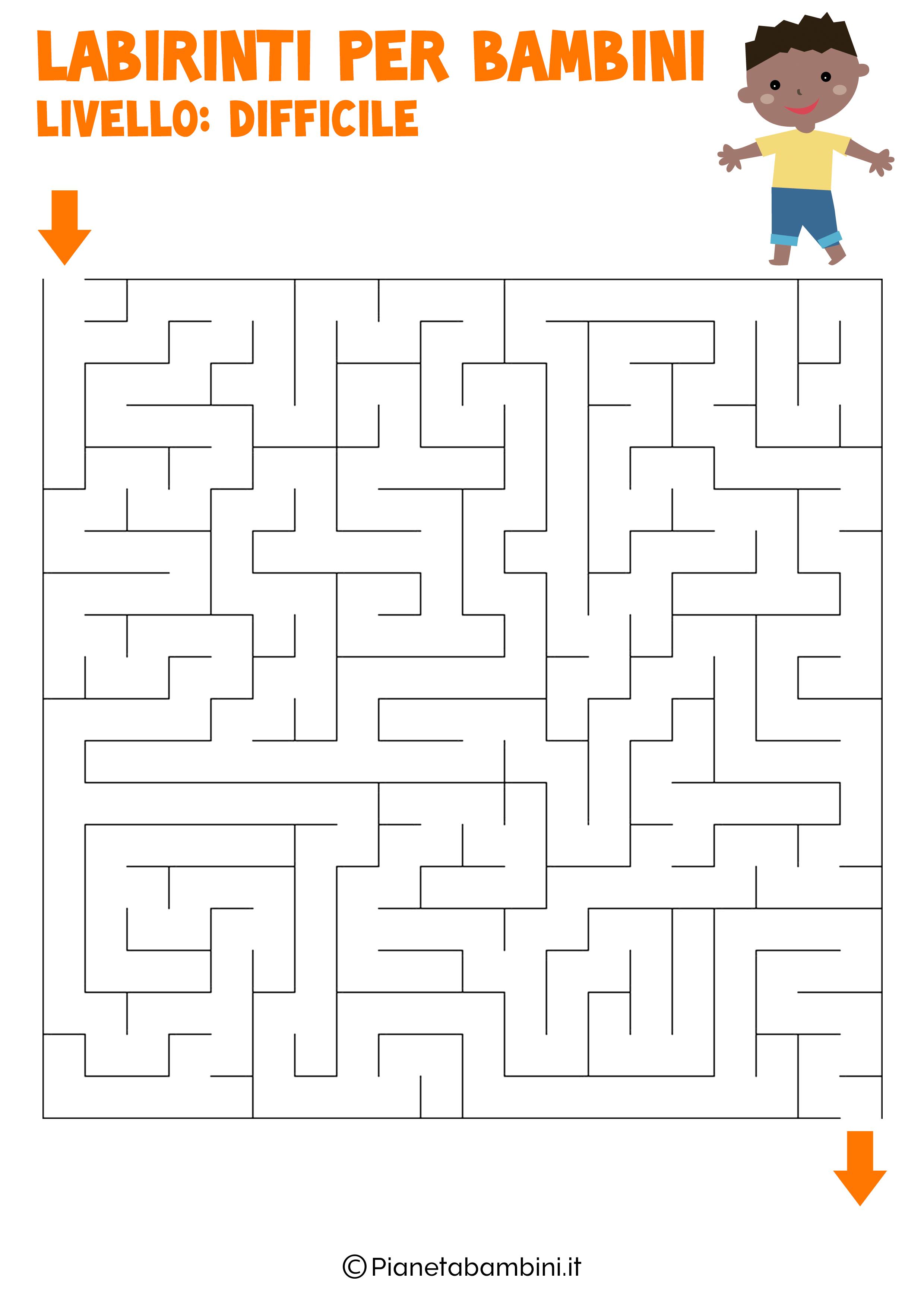 Labirinto difficile per bambini numero 6