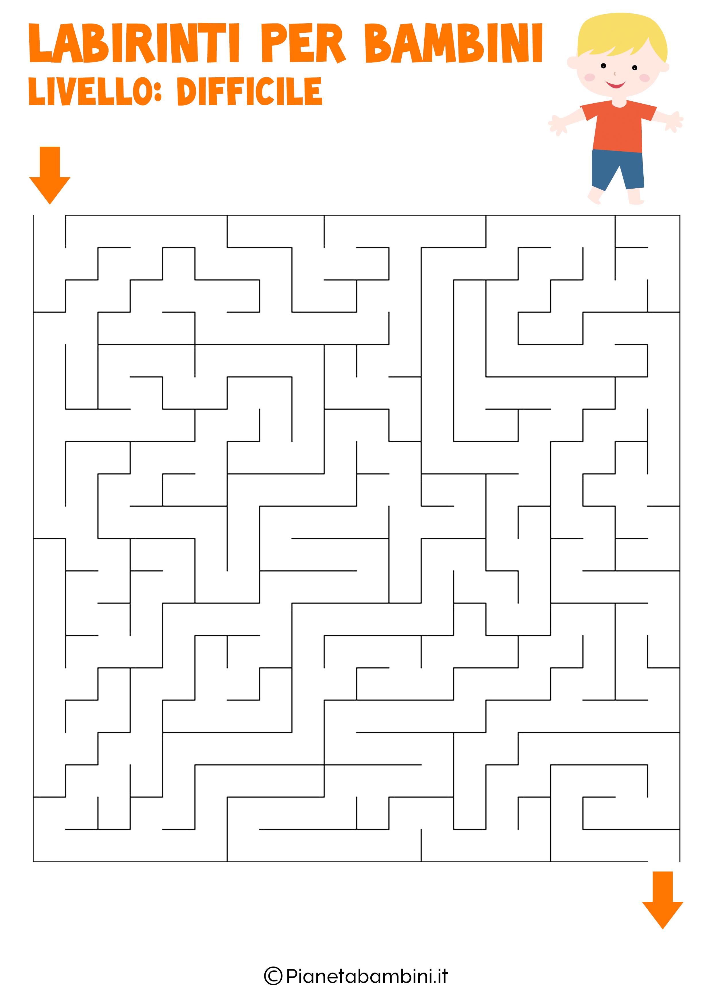 Labirinto difficile per bambini numero 9