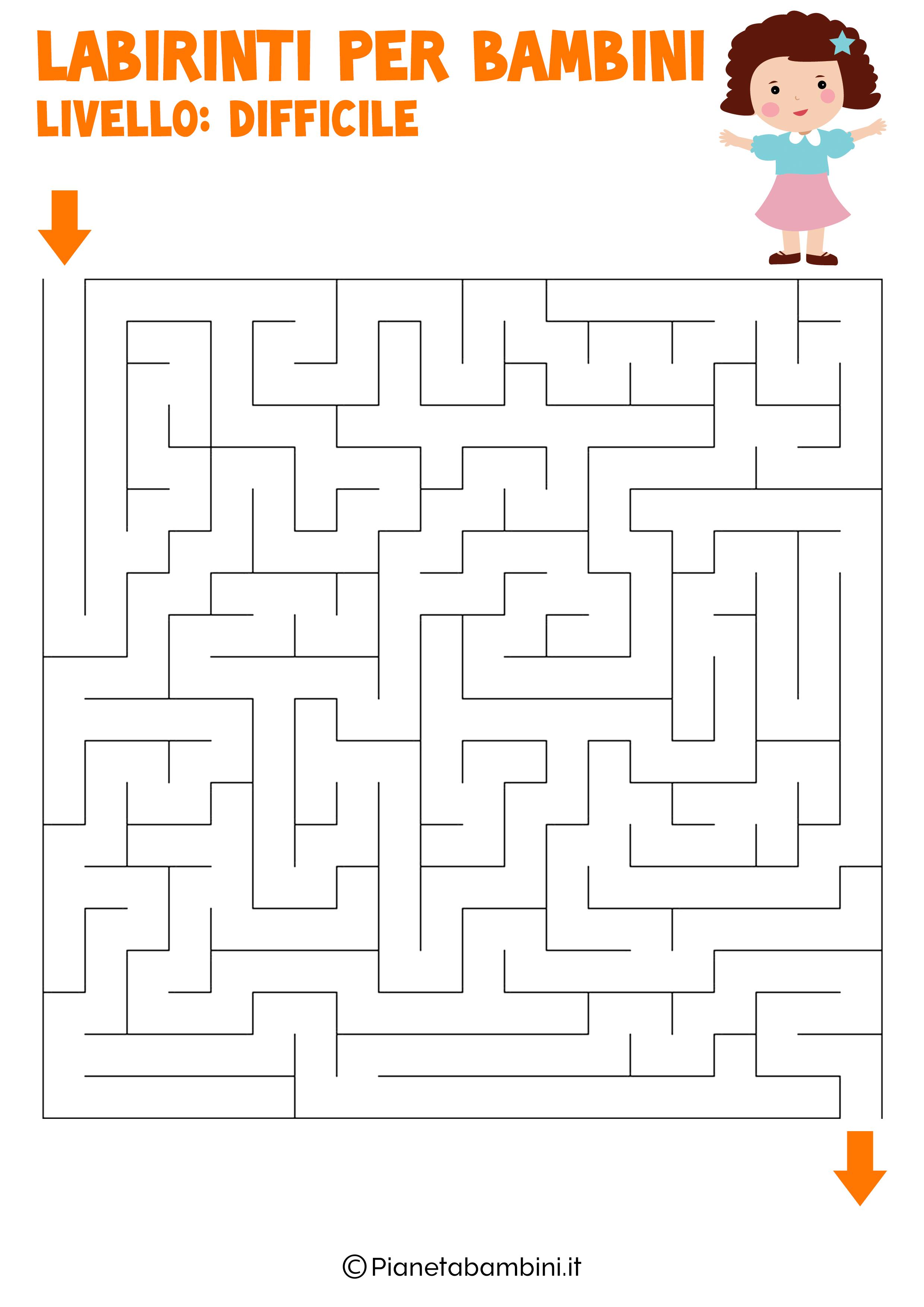 Labirinto difficile per bambini numero 10