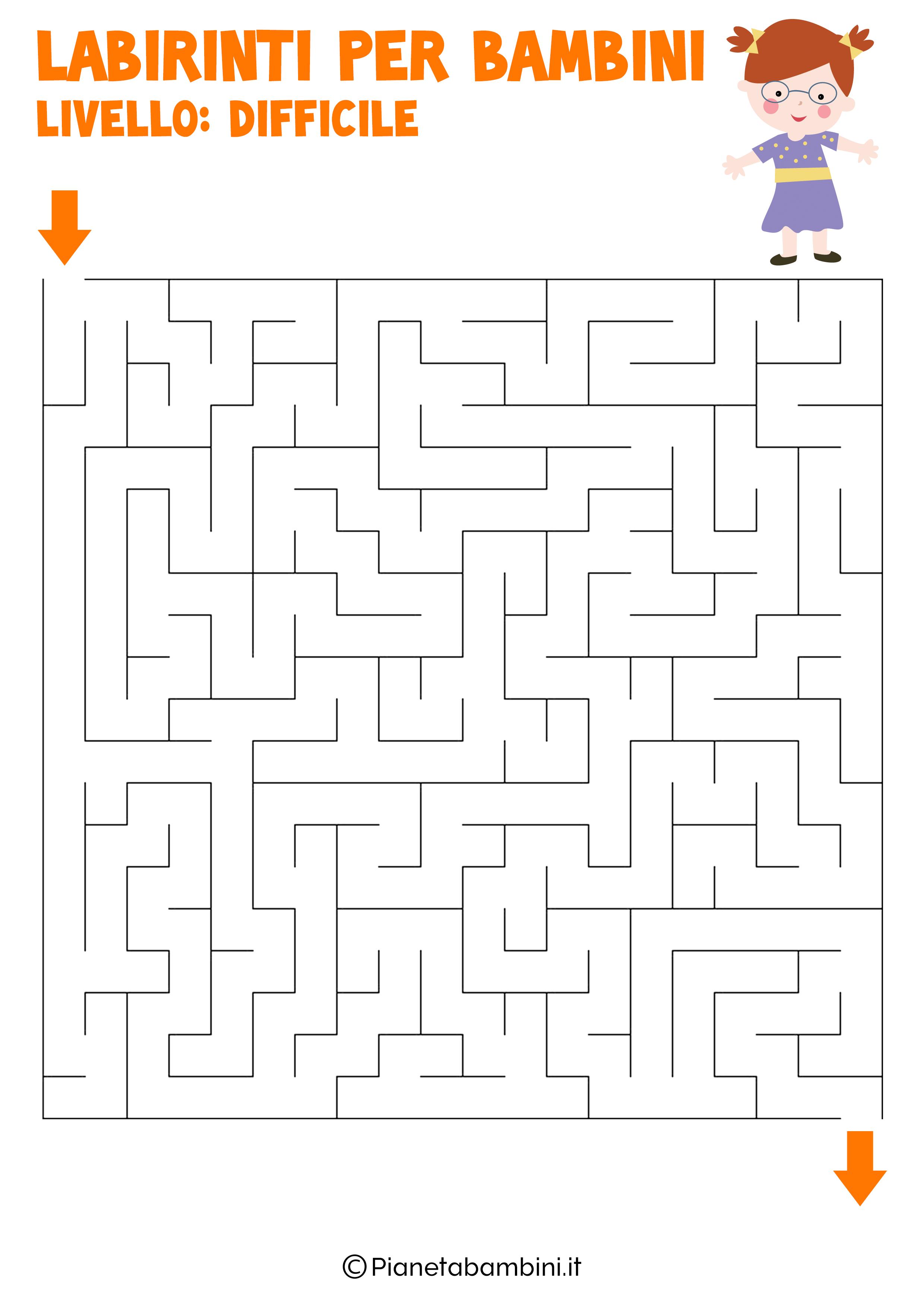 Labirinto difficile per bambini numero 13