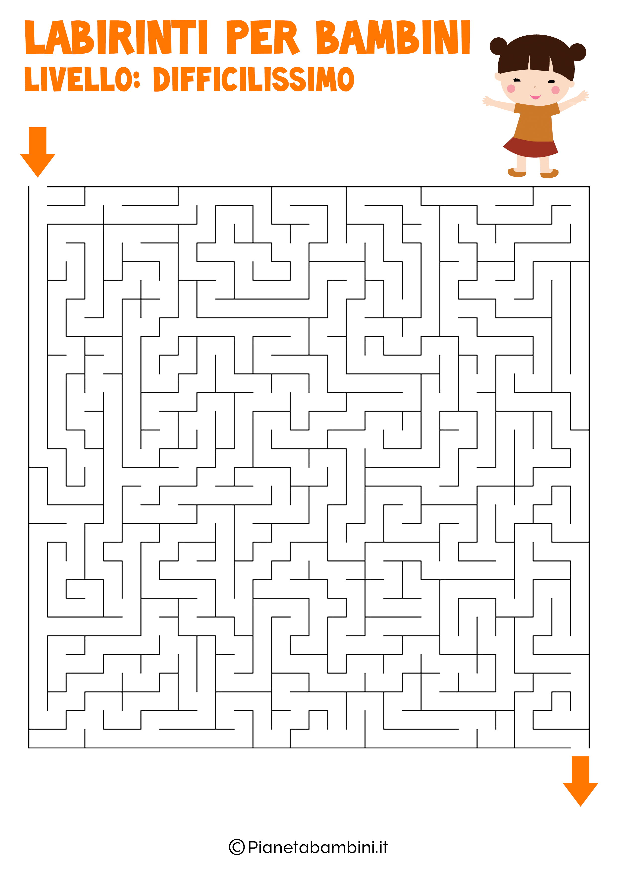 Labirinto difficilissimo per bambini numero 2