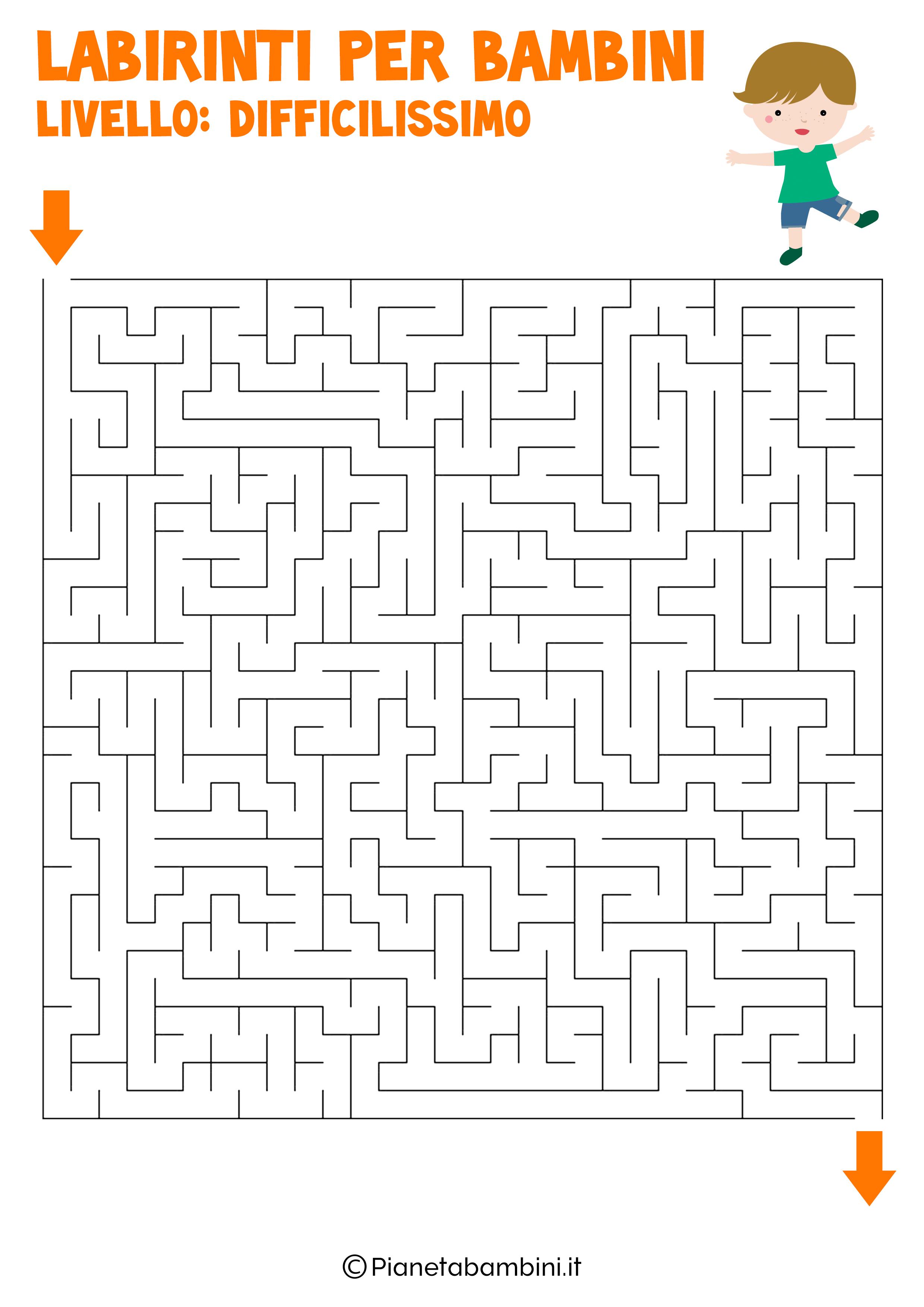 Labirinto difficilissimo per bambini numero 4
