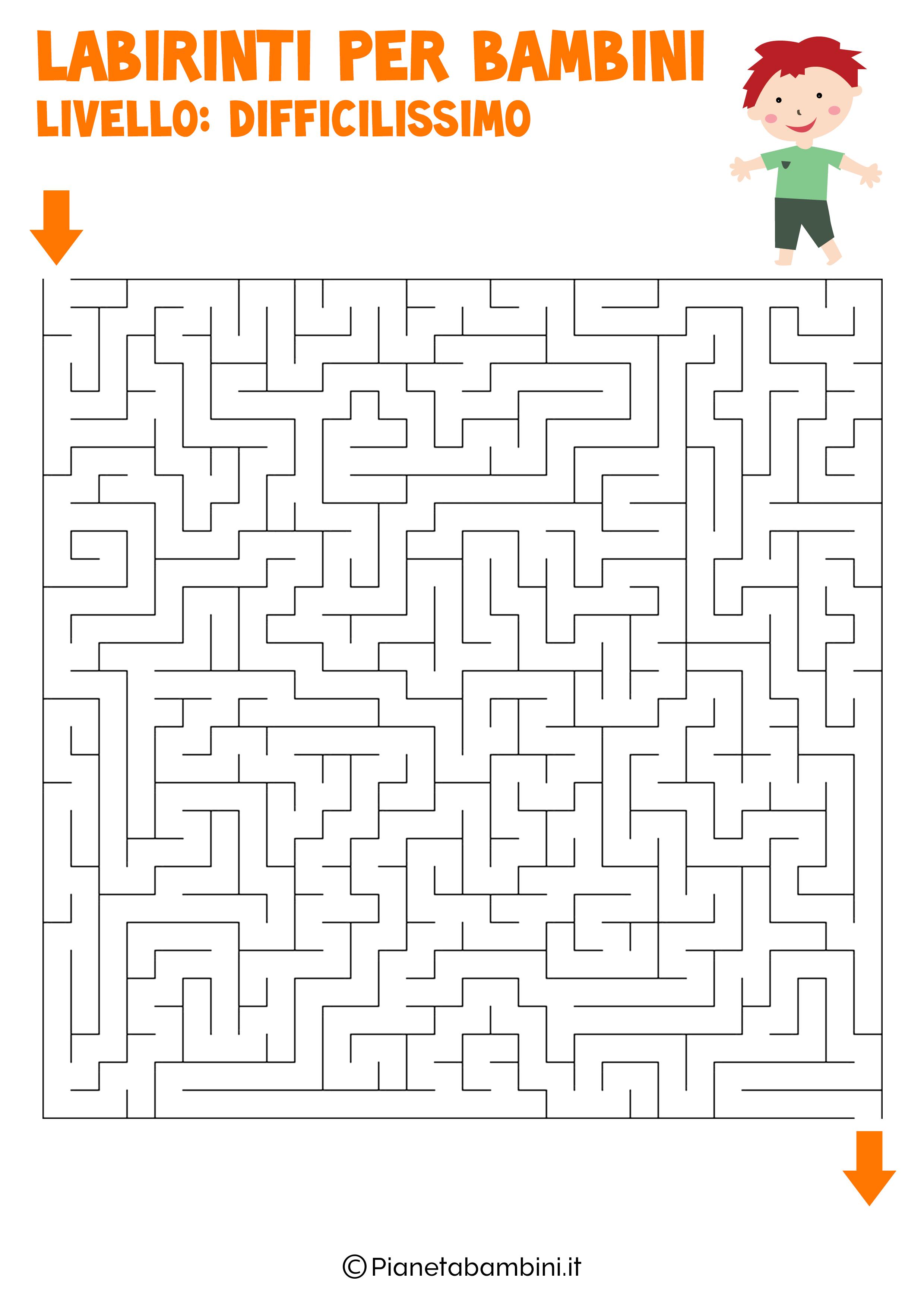 Labirinto difficilissimo per bambini numero 5