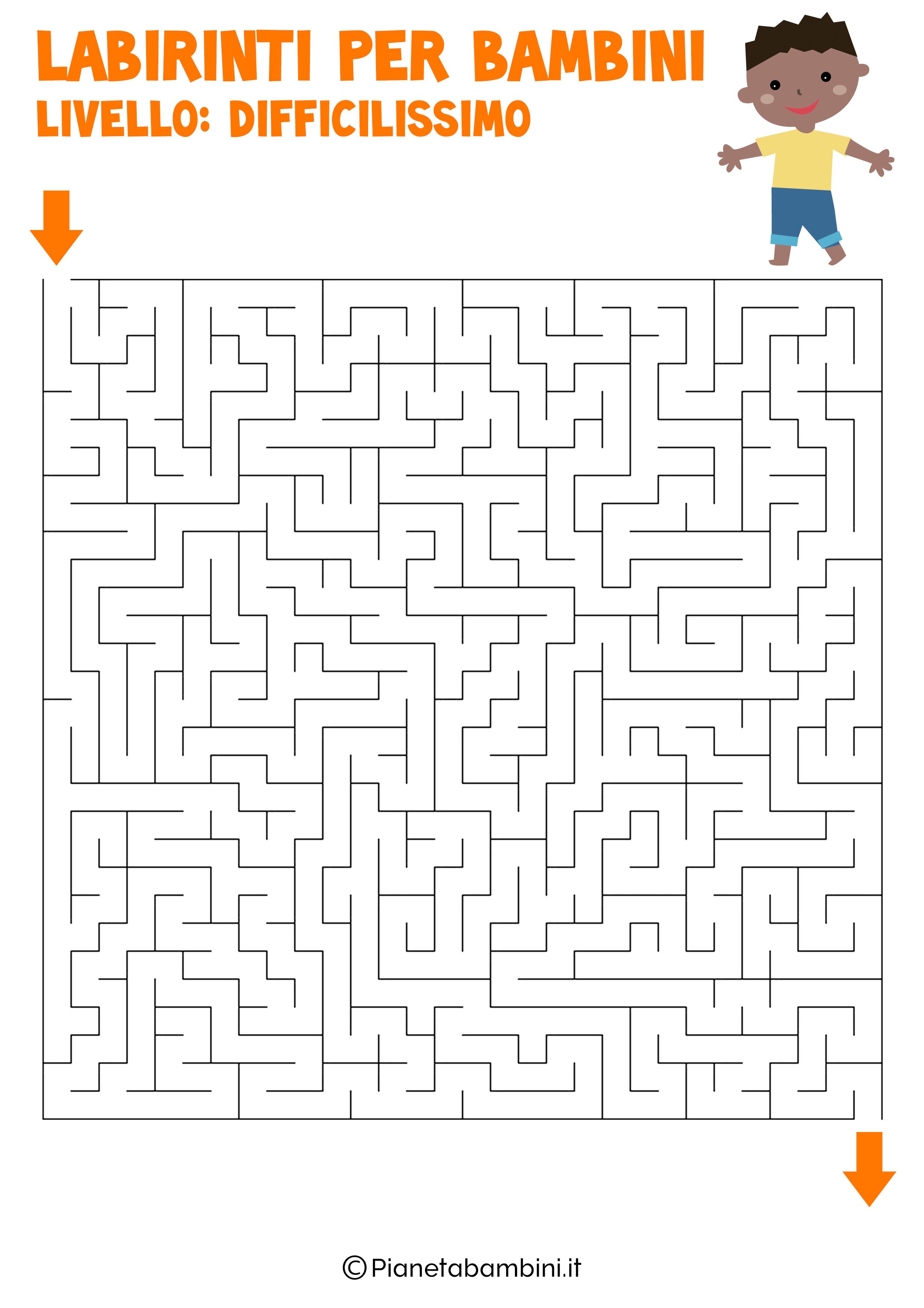 Labirinto difficilissimo per bambini numero 7