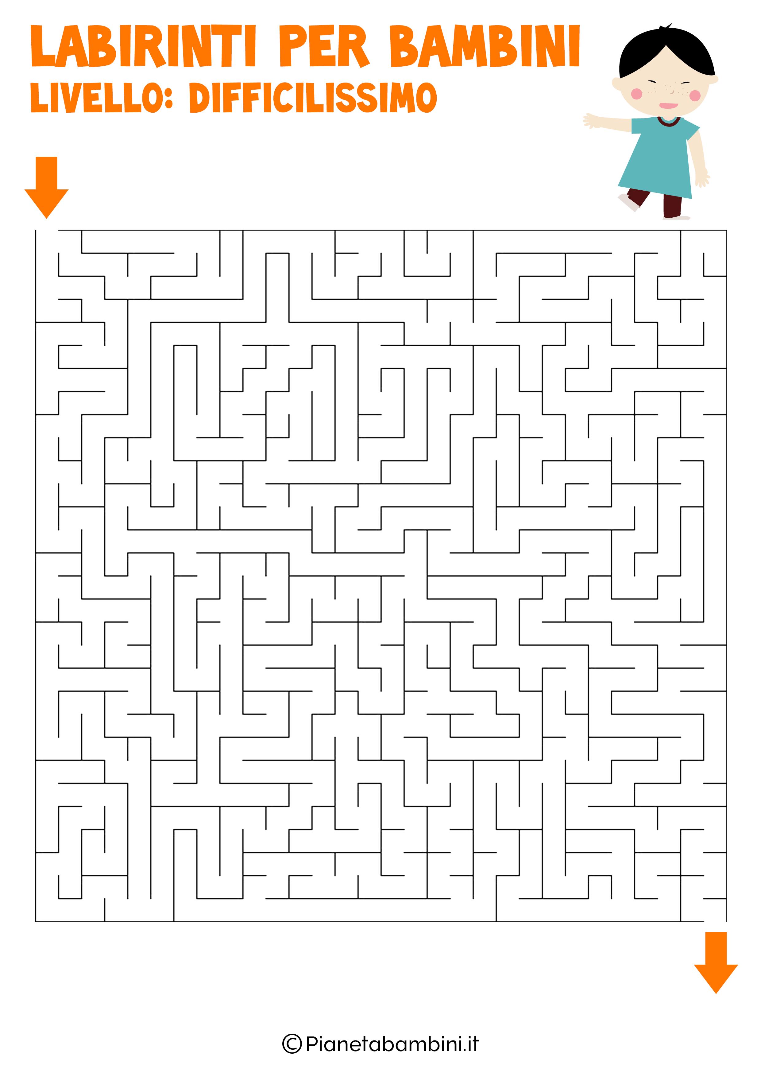 Labirinto difficilissimo per bambini numero 8
