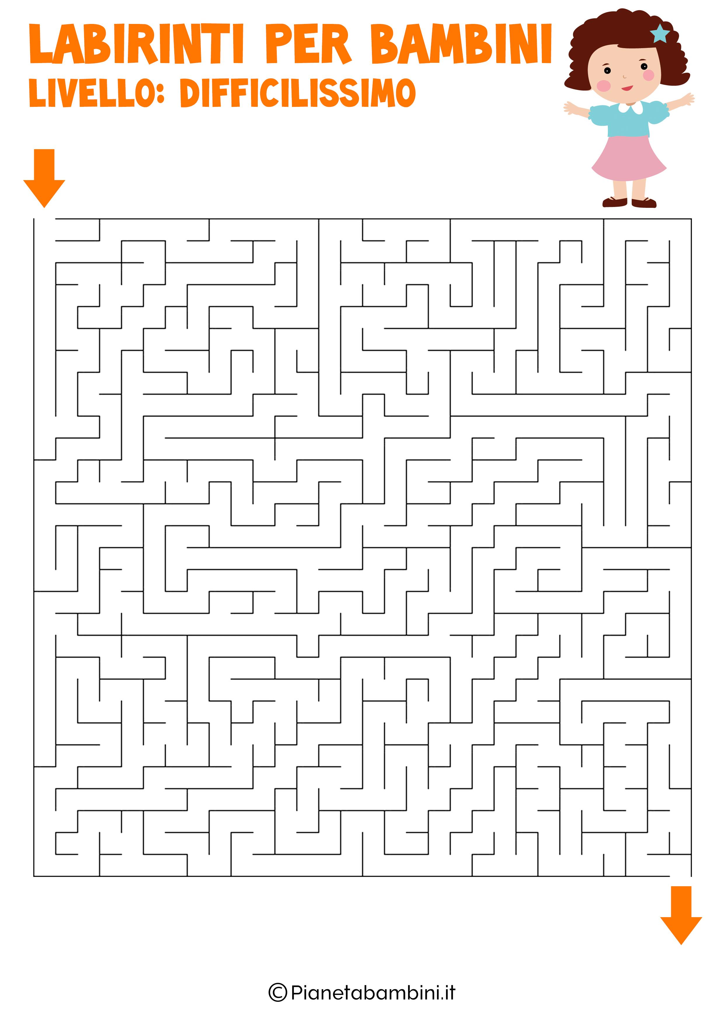 Labirinto difficilissimo per bambini numero 10