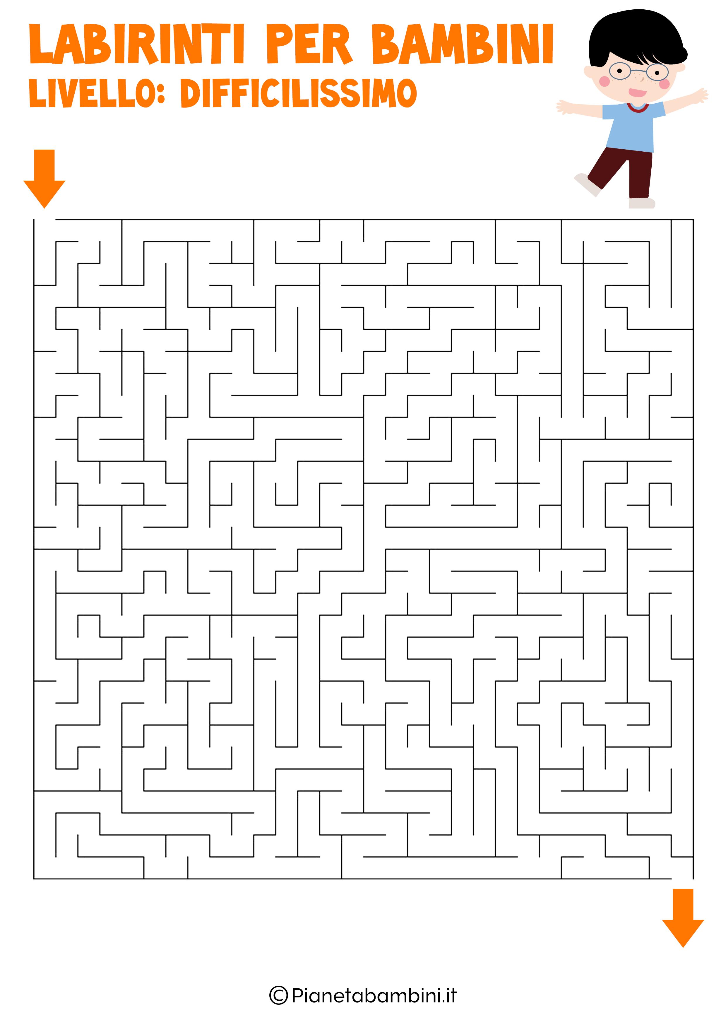Labirinto difficilissimo per bambini numero 11
