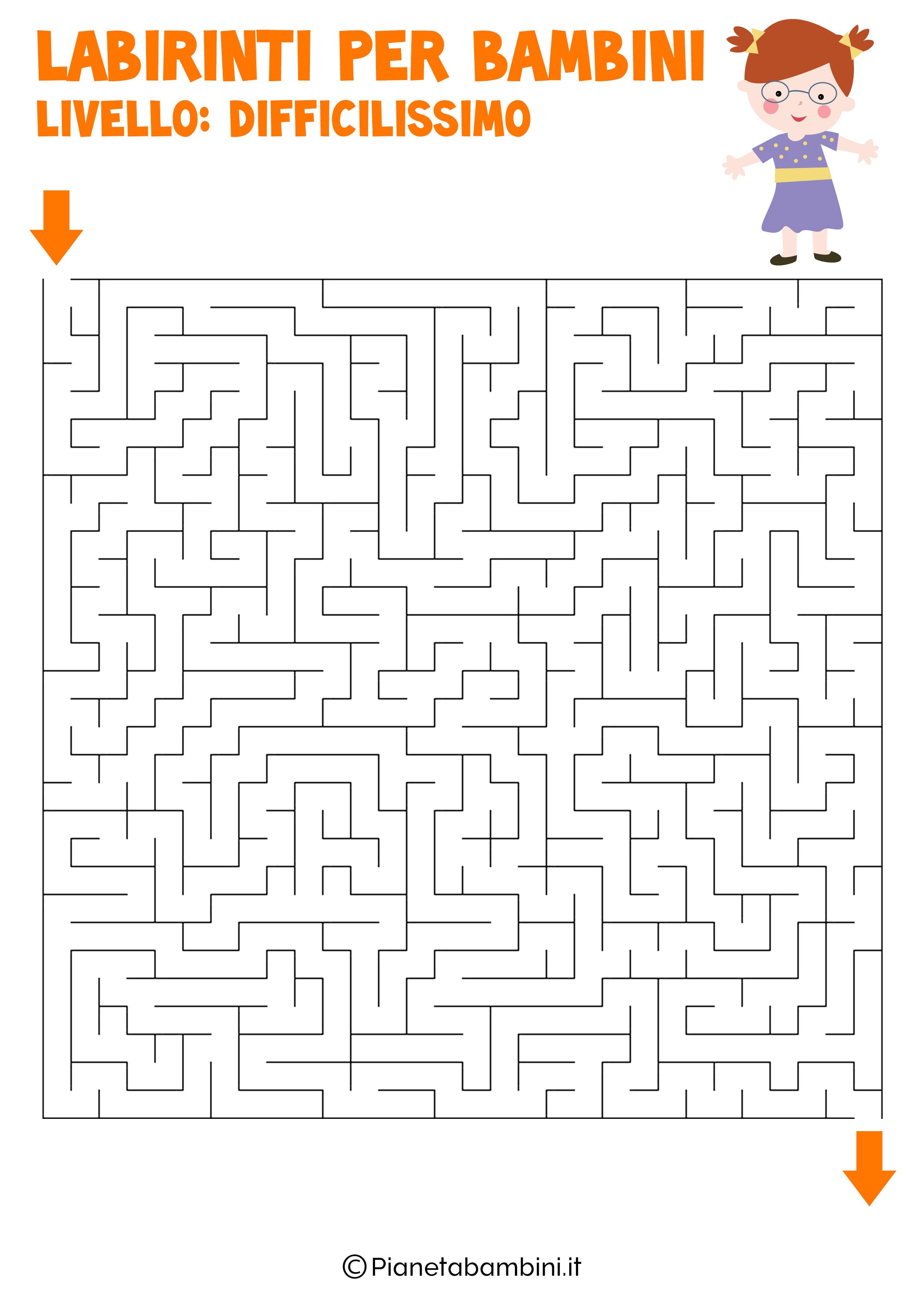 Labirinto difficilissimo per bambini numero 13