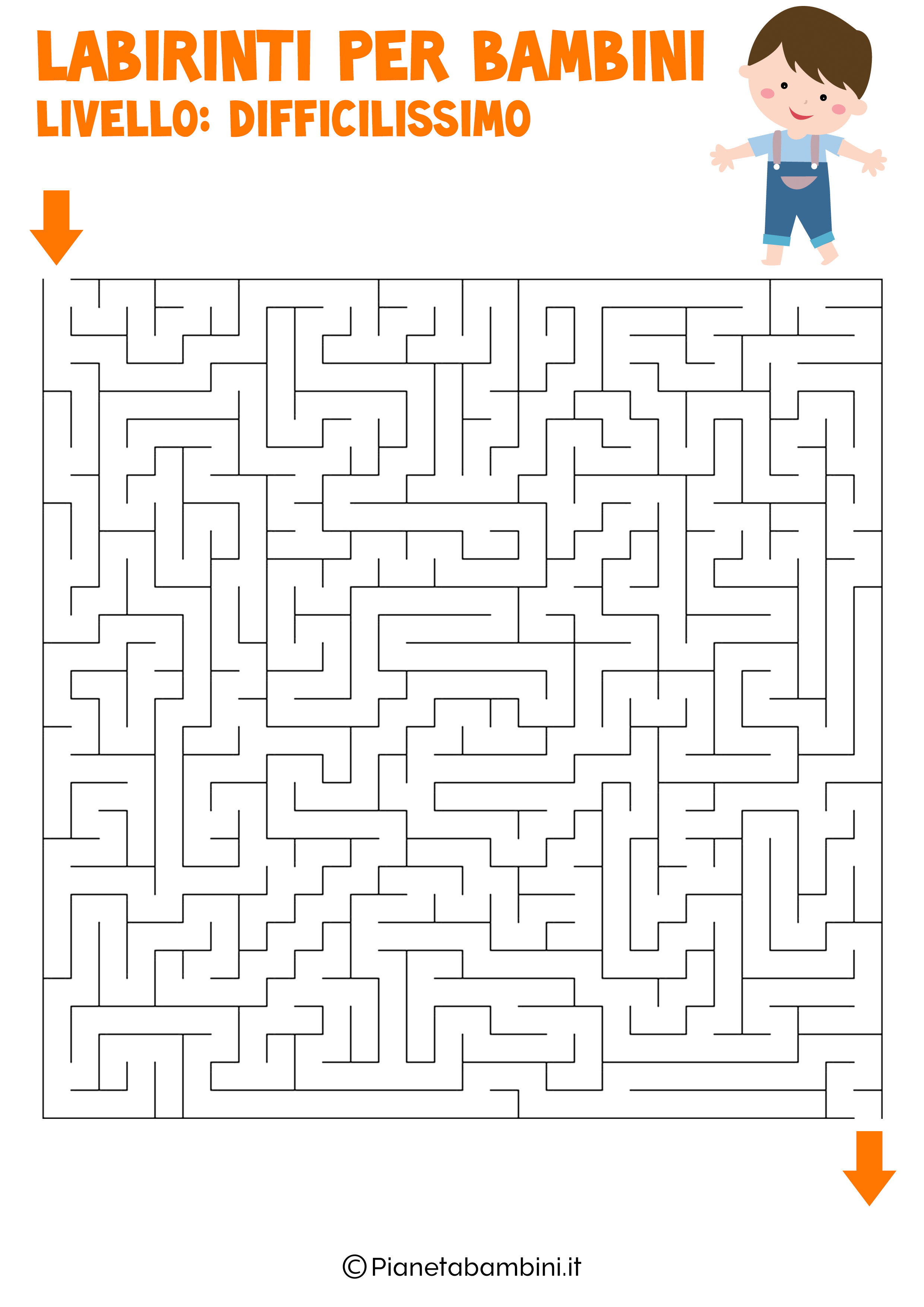 Labirinto difficilissimo per bambini numero 14
