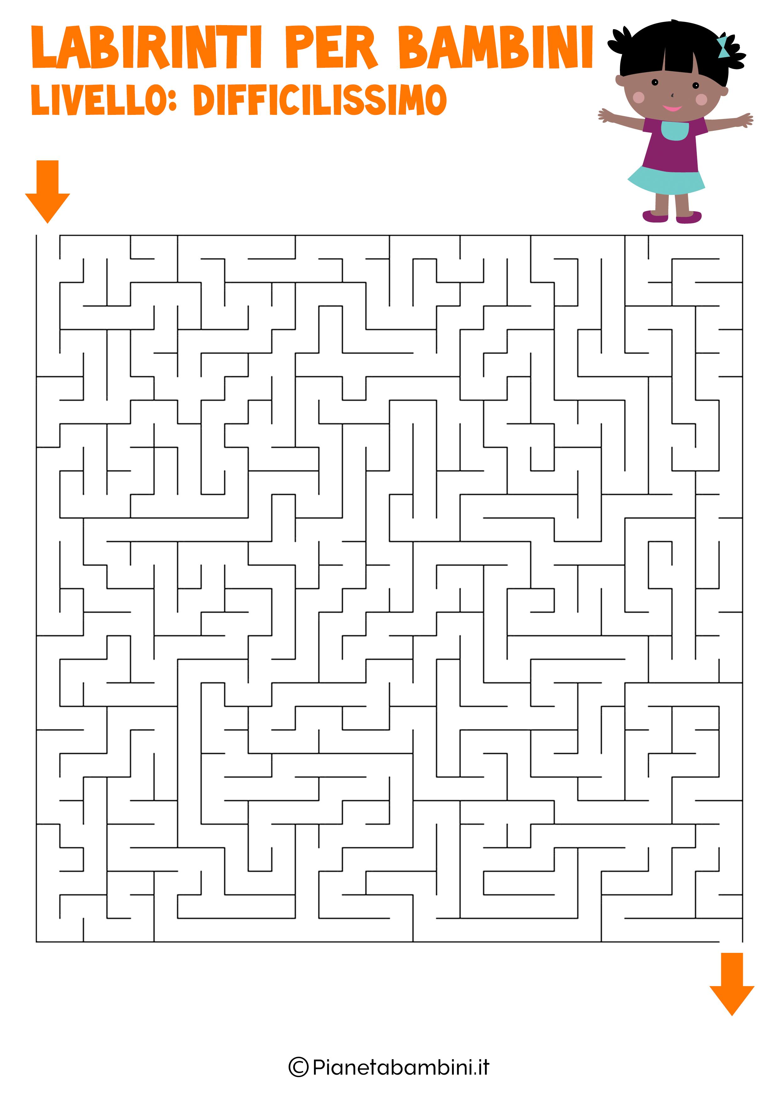 Labirinto difficilissimo per bambini numero 15