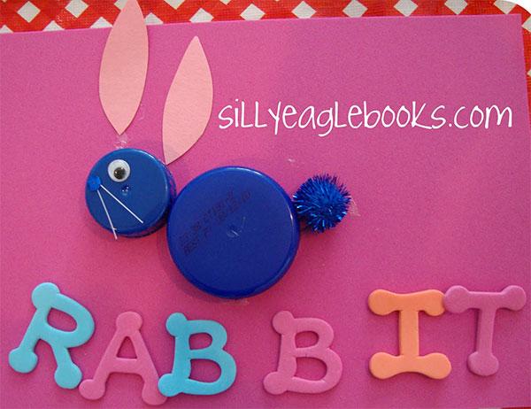 Come creare un coniglietto con tappi di plastica