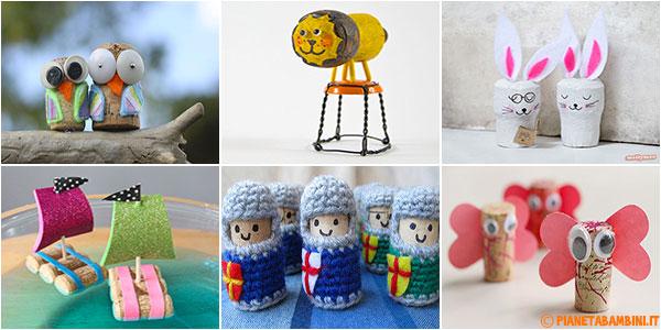 Tante idee per creare lavoretti con tappi di sughero in compagnia dei bambini