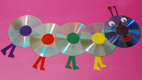 Come creare un bruco con vecchi CD