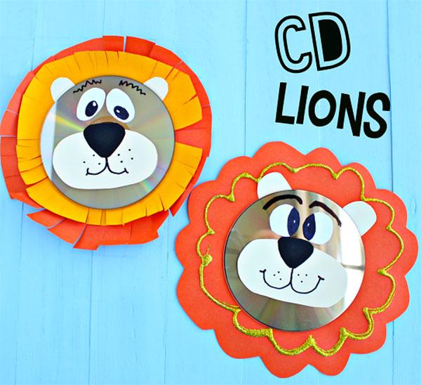 Come creare dei leoni con CD riciclati