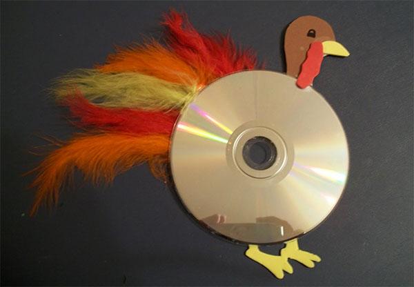 Come creare un tacchino con CD riciclati
