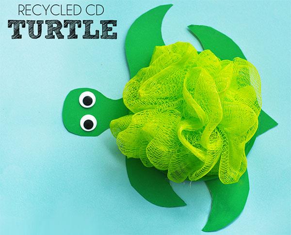 Come creare una tartaruga con CD riciclati