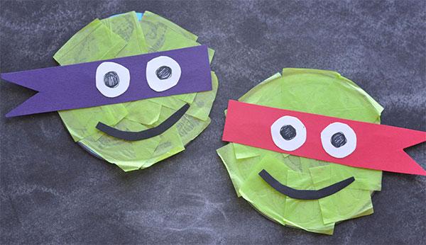 Come creare le tartarugghe ninja con CD riciclati