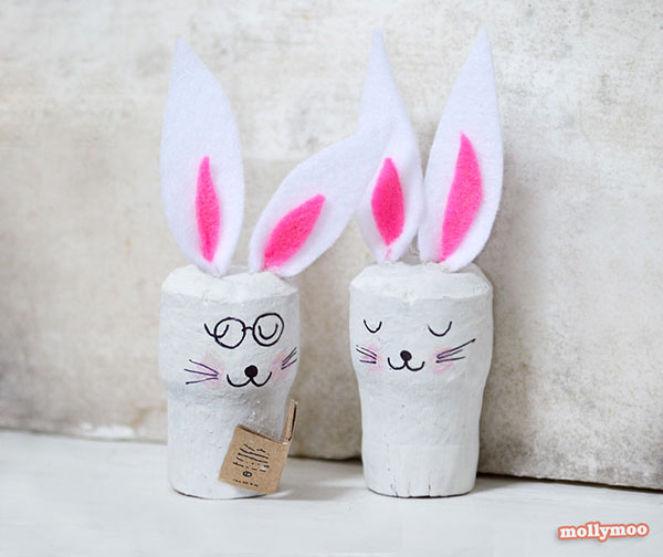 Come creare dei conigli con tappi di sughero