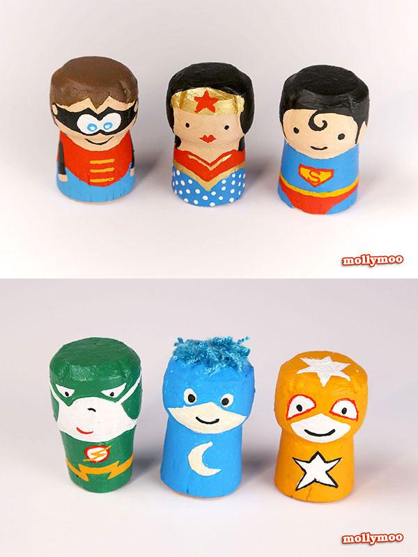 Come creare dei supereroi con tappi di sughero