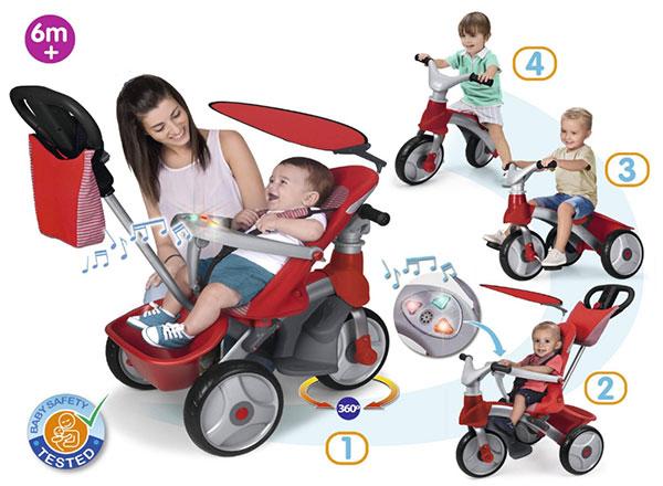 Triciclo con maniglione Feber Baby Trike Easy Evolution di Famosa