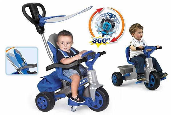 Triciclo con maniglioneFeber Baby Twist di Famosa