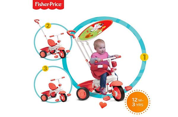 Triciclo con maniglione Classic Plus di Fisher Price