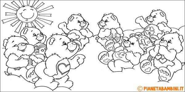 Disegni degli Orsetti del Cuore da stampare gratis