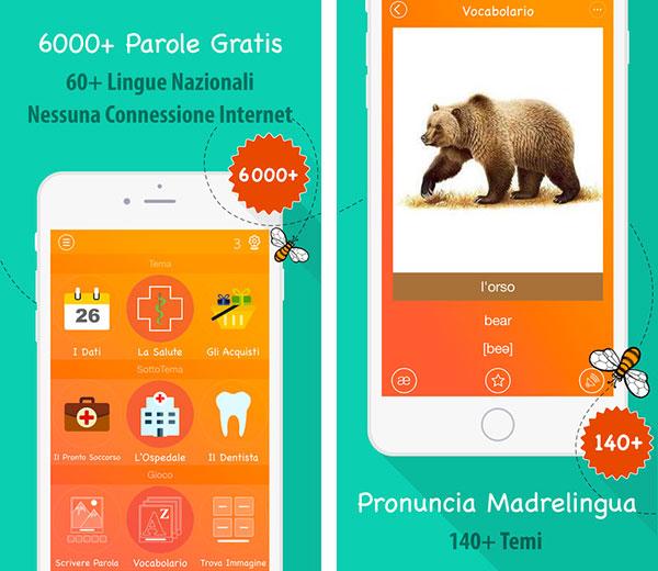 App per imparare l'inglese per bambini 6000 parole