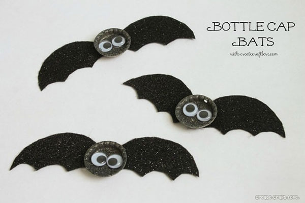 Come creare dei pipistrelli con tappi di metallo