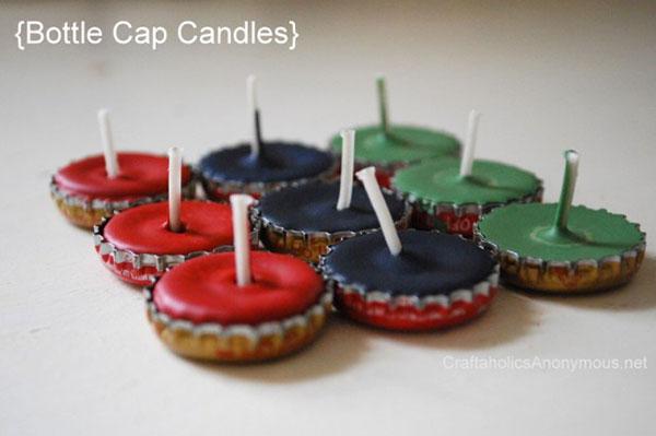 Come creare delle candele con tappi di metallo