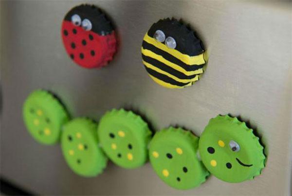 Come creare degli insetti con tappi di metallo