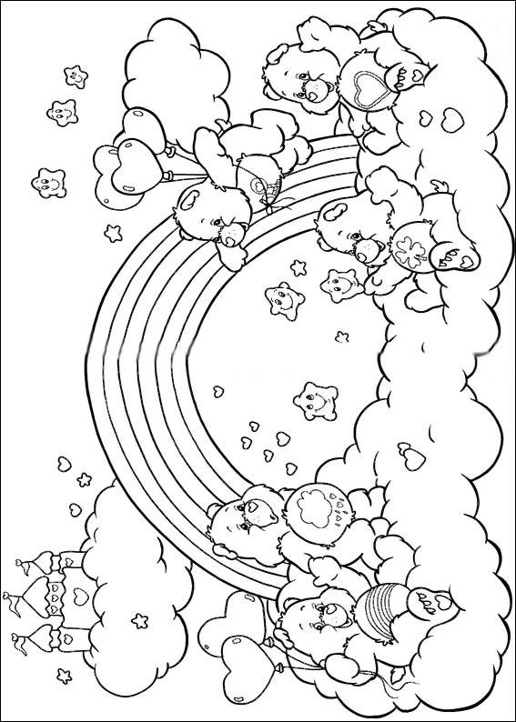Disegni degli orsetti del cuore da colorare