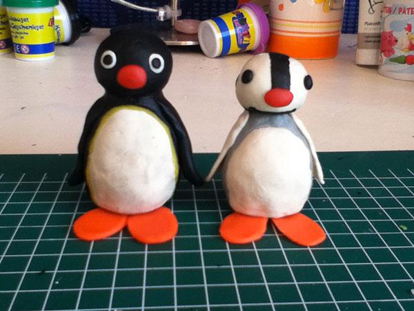 Come creare Pingu con la pasta di sale