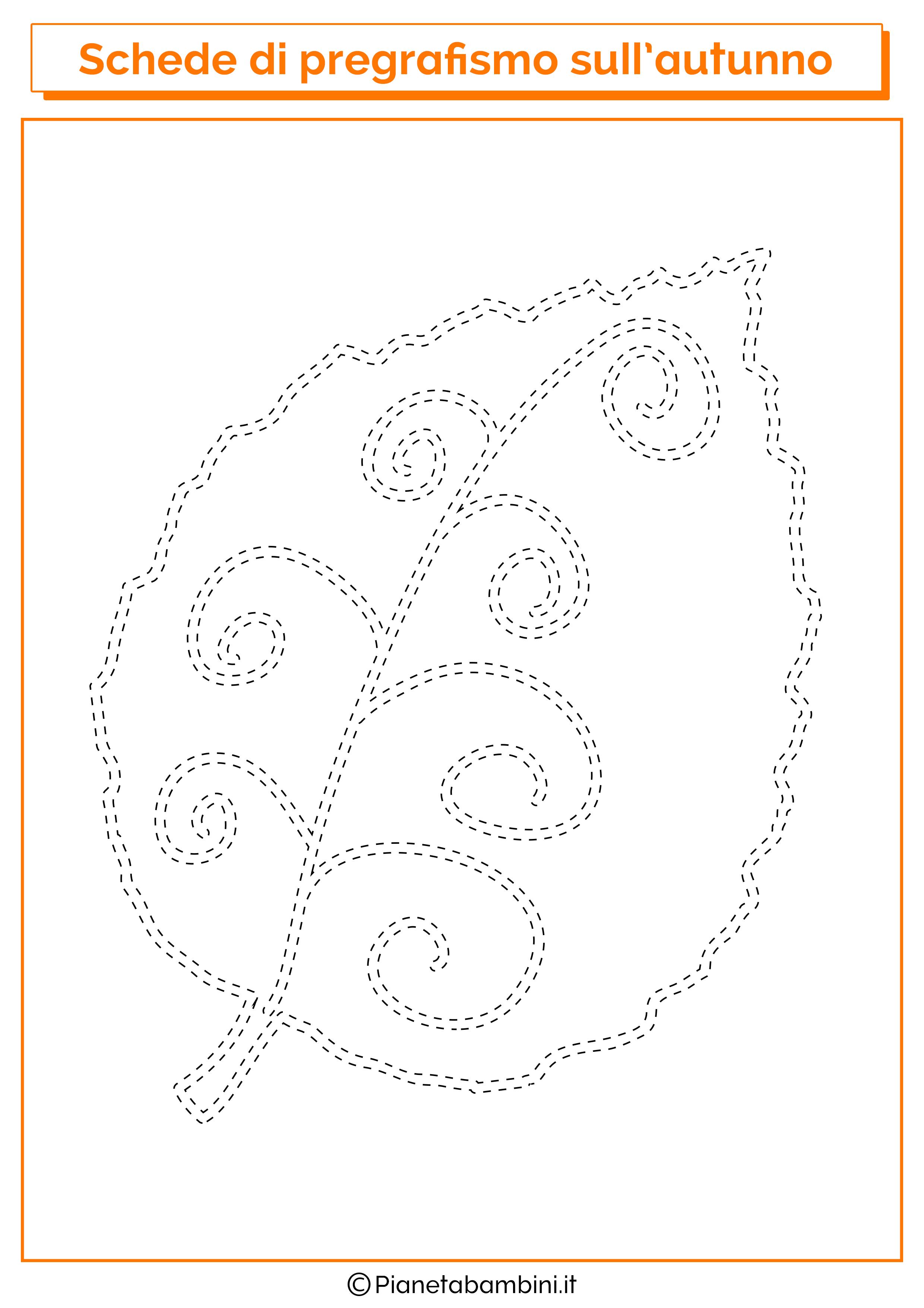 Scheda pregrafismo autunno foglia 1