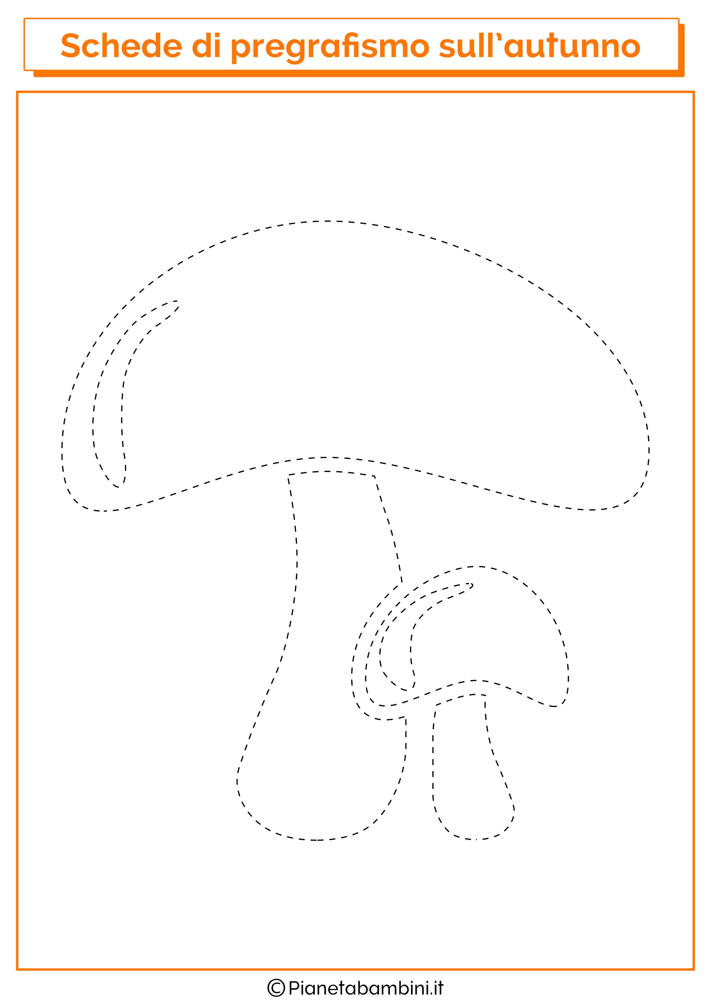 Scheda pregrafismo autunno funghi