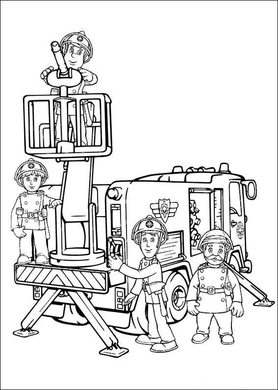 75 disegni di sam il pompiere da colorare - Dessin sam le pompier ...