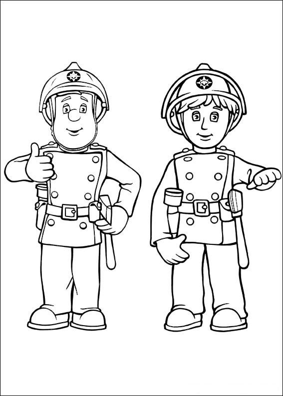 Pompiere Sam Da Colorare.75 Disegni Di Sam Il Pompiere Da Colorare Pianetabambini It