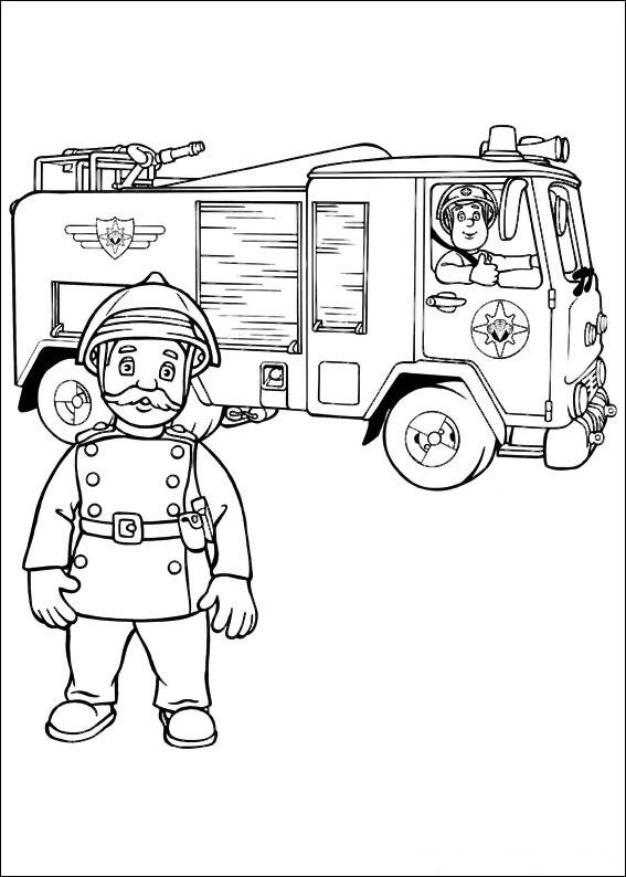 Immagini Da Colorare Sam Pompiere