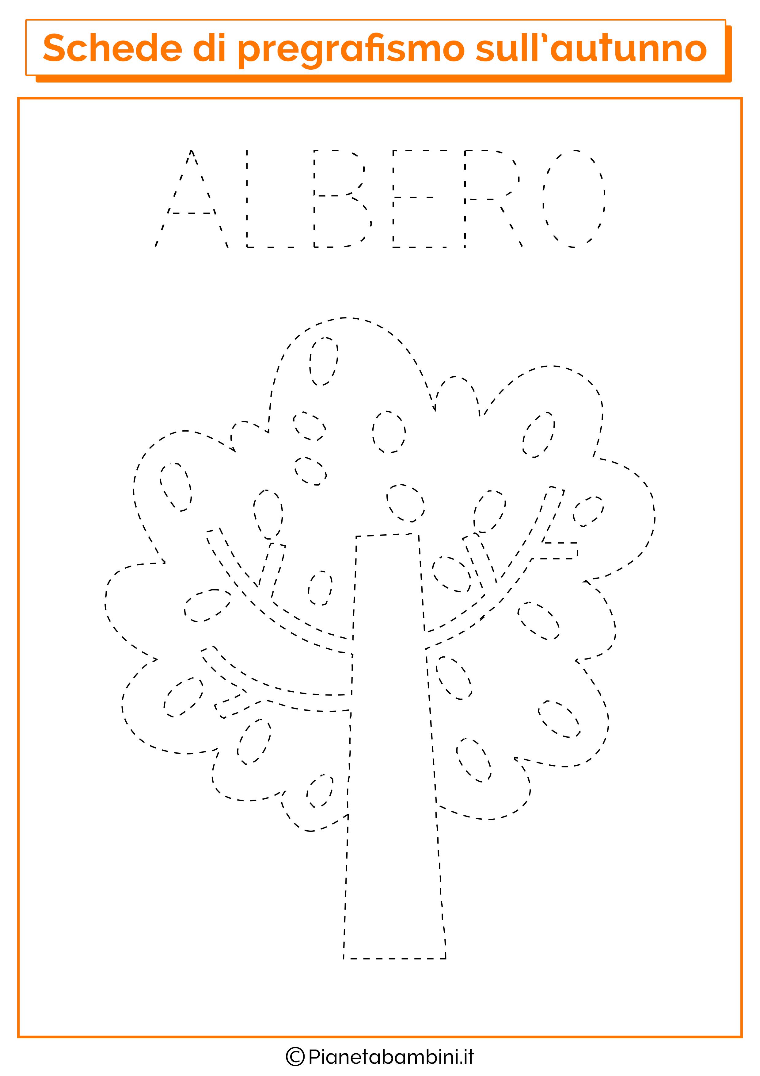 Pregrafismo autunno albero
