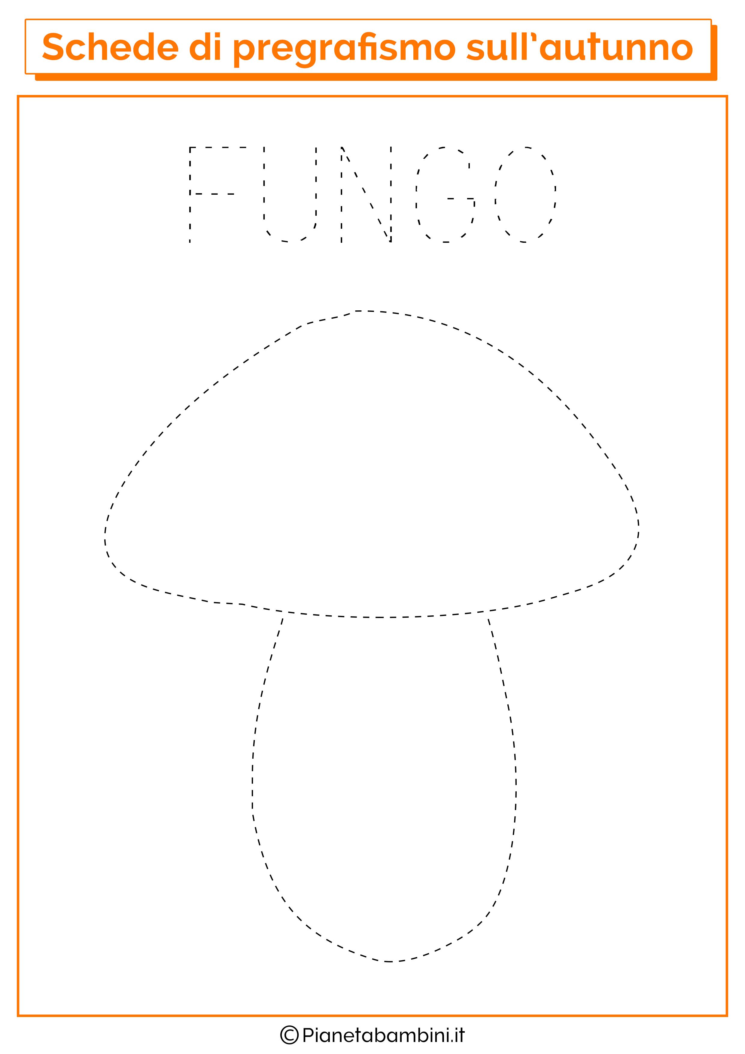 Pregrafismo autunno fungo
