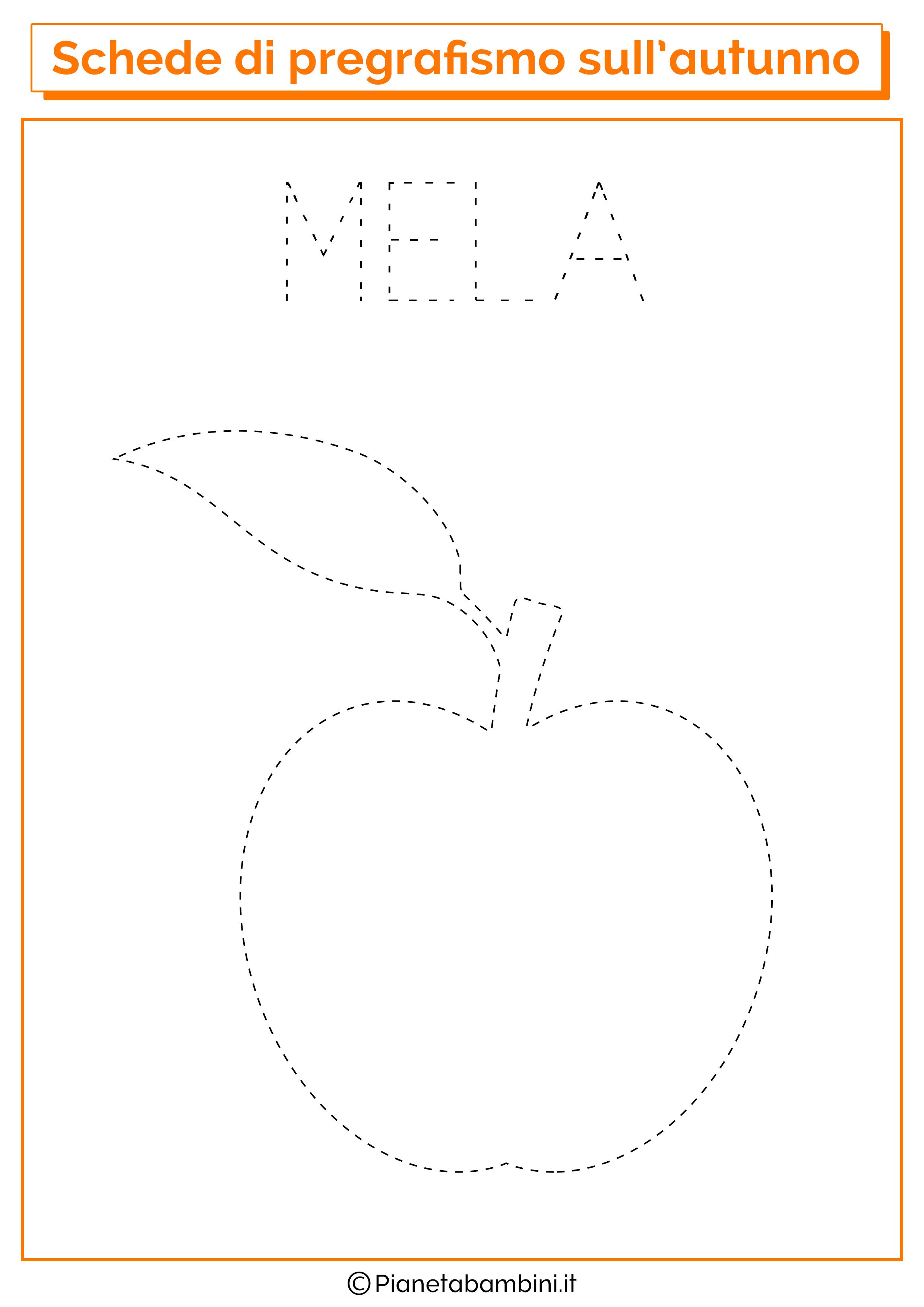 Pregrafismo autunno mela